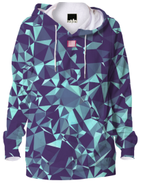 Purple Blue X Diamonds Hoodie