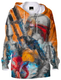 Star Wars - Boba Fett - Bright Orange Hoodie.
